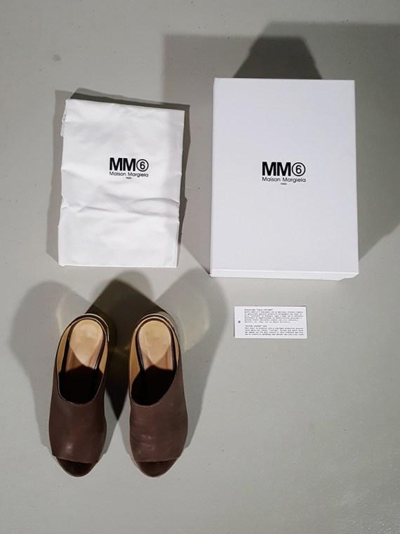 vintage Maison Martin Margiela MM6 brown mules with gold block heel spring 2017 182112