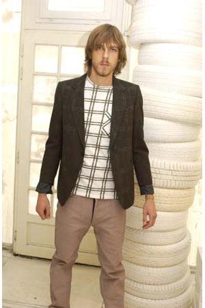 MARG_vintage Maison Martin Margiela men white longsleeve top with green tartan stripe_SS04_021