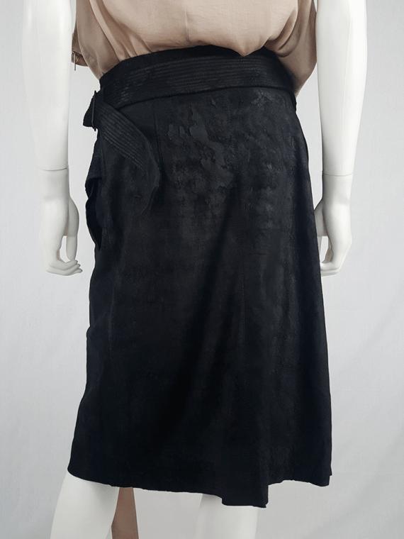 Haider Ackermann black leather wrap skirt — spring 2011