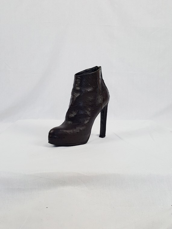 vintage Haider Ackermann brown ankle boots with back zipper fall 2010 102259