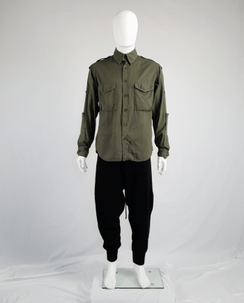 Y's Yohji Yamamoto green shirt with detachable collar