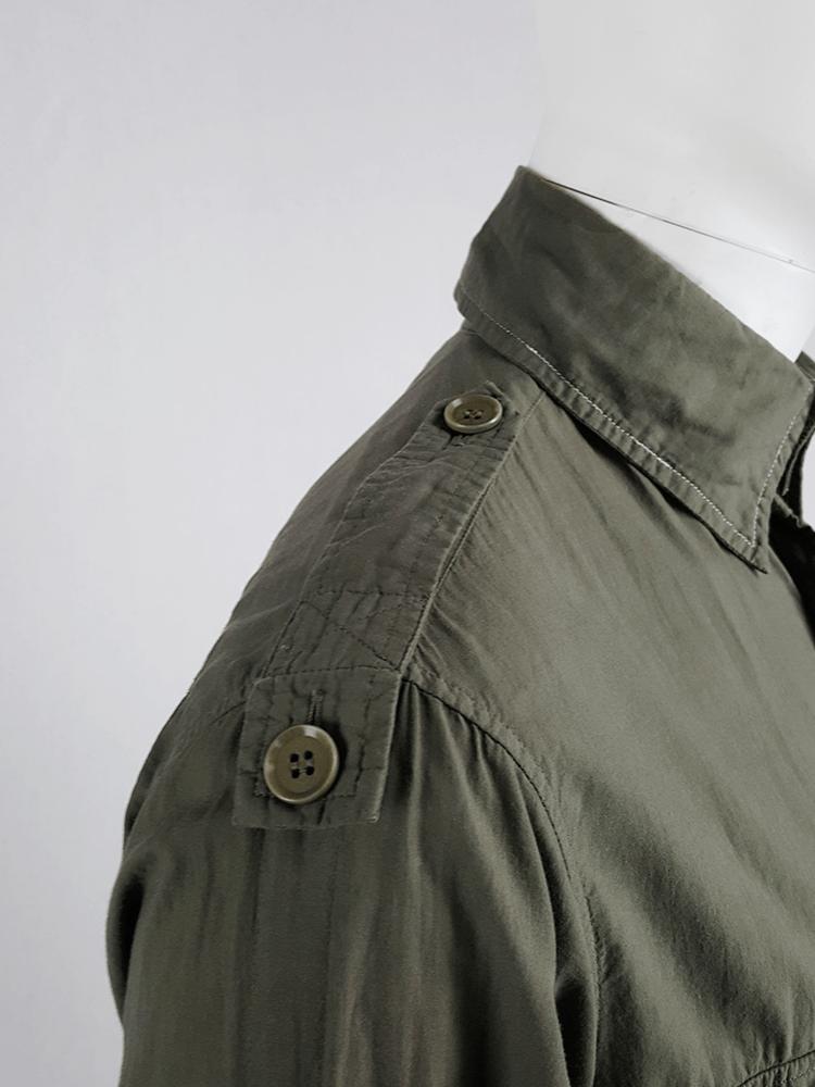 Y's Yohji Yamamoto green shirt with detachable collar