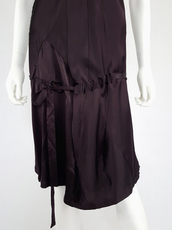 vintage Ann Demeulemeester purple belted dress fall 2003 135132