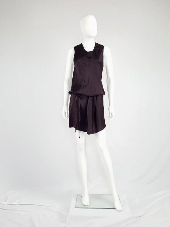 vintage Ann Demeulemeester purple belted dress fall 2003 135236