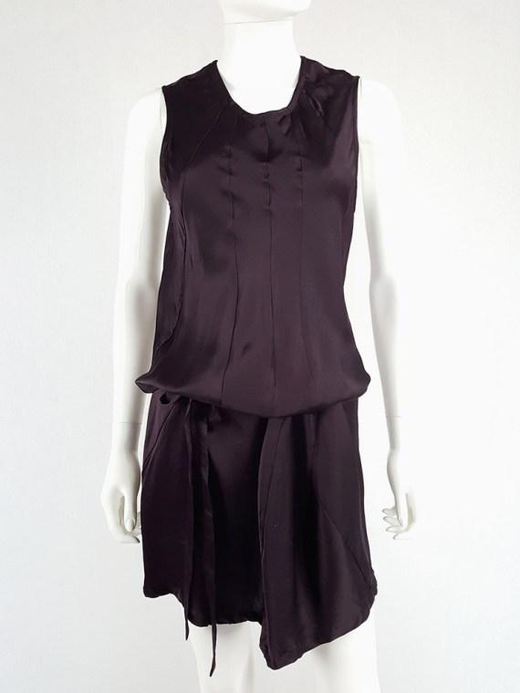 vintage Ann Demeulemeester purple belted dress fall 2003 135315