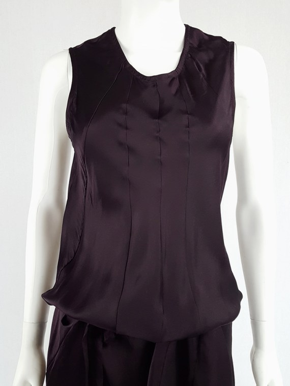 vintage Ann Demeulemeester purple belted dress fall 2003 135349