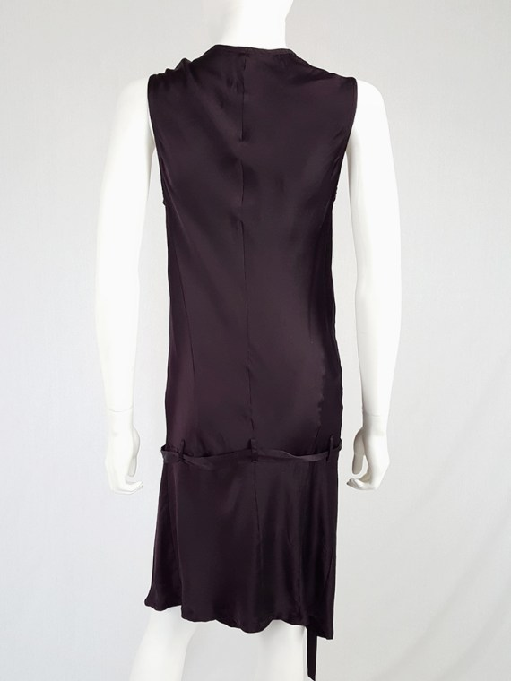 vintage Ann Demeulemeester purple belted dress fall 2003 135549