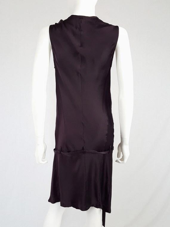 Ann Demeulemeester purple belted dress — fall 2003