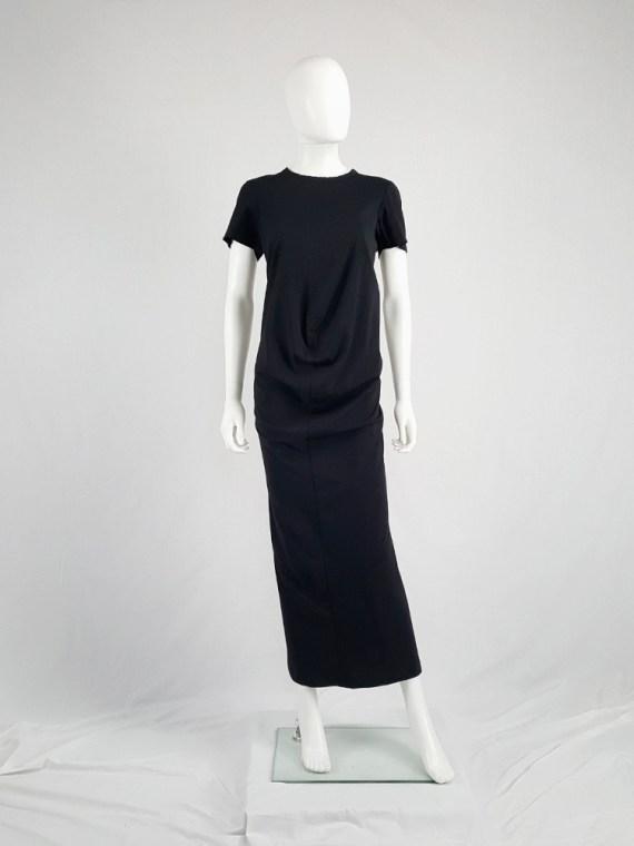 vintage Comme des Garcons robe de chambre black deformed maxi dress AD 1999 104130