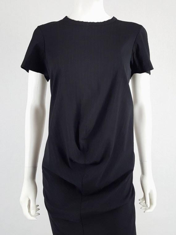 vintage Comme des Garcons robe de chambre black deformed maxi dress AD 1999 104214