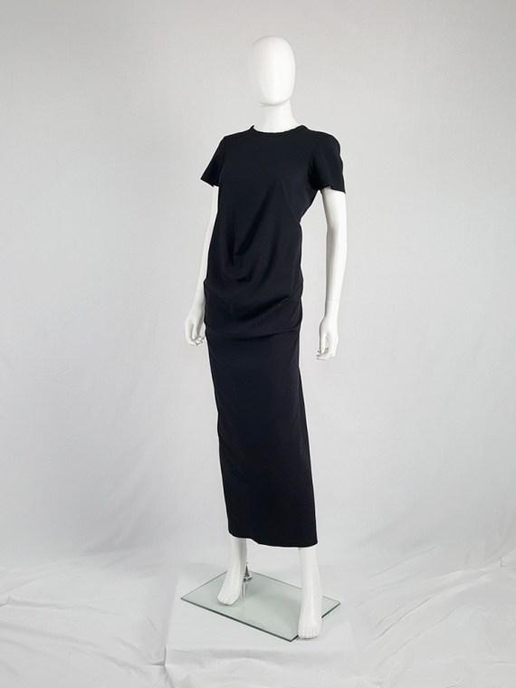vintage Comme des Garcons robe de chambre black deformed maxi dress AD 1999 104533