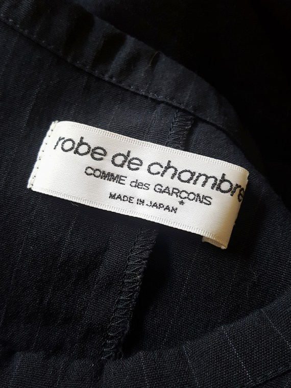 vintage Comme des Garcons robe de chambre black deformed maxi dress AD 1999 114812