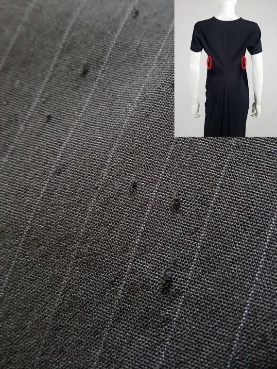 vintage Comme des Garcons robe de chambre black deformed maxi dress AD 1999 115049