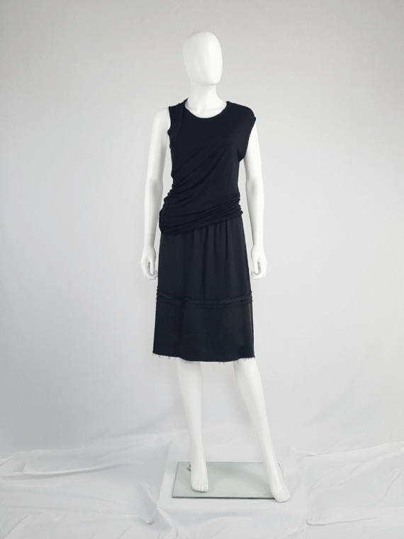 vintage Maison Martin Margiela black deconstructed skirt in furniture lining spring 2004 185142