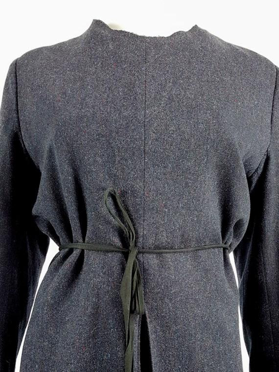 vintage Maison Martin Margiela grey felt backwards blazer fall 1994 200257
