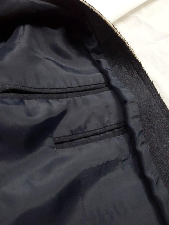 vintage Maison Martin Margiela grey felt backwards blazer fall 1994 202153