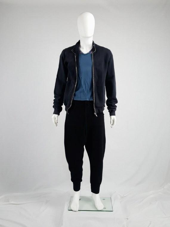Rick Owens DRKSHDW black zipper sweatshirt