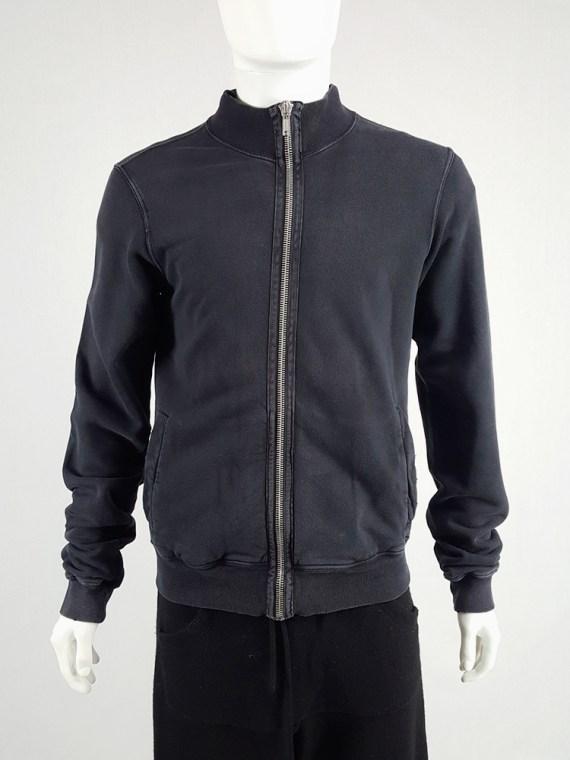 vintage Rick Owens DRKSHDW black zipper sweatshirt 112131