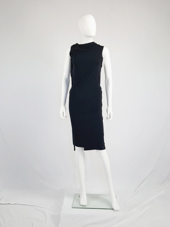 vintage Ann Demeulemeester black triple wrapped dress with 5 armholes spring 1998 091509