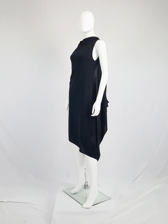 vintage Ann Demeulemeester black triple wrapped dress with 5 armholes spring 1998 091759