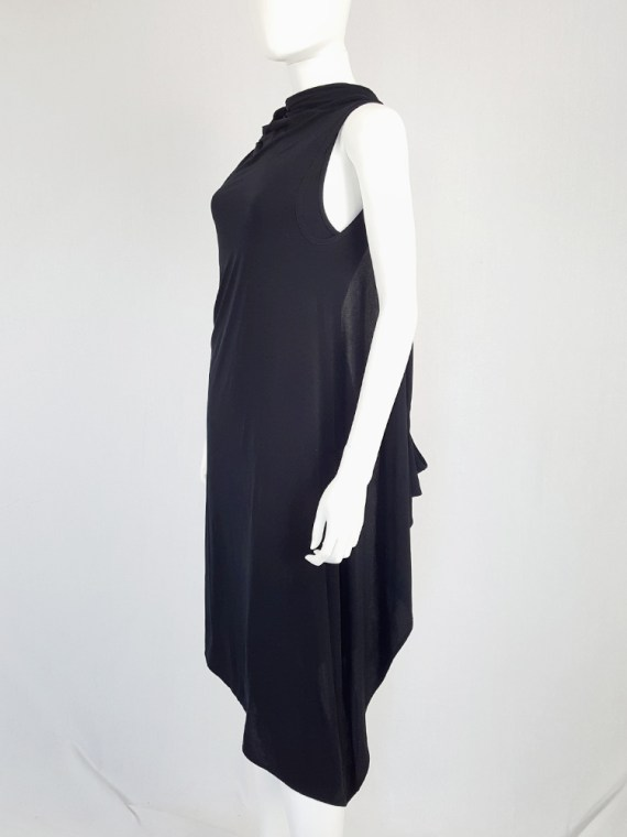 vintage Ann Demeulemeester black triple wrapped dress with 5 armholes spring 1998 091838