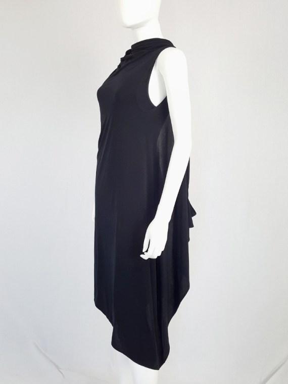 Ann Demeulemeester black triple wrapped dress — spring 1998