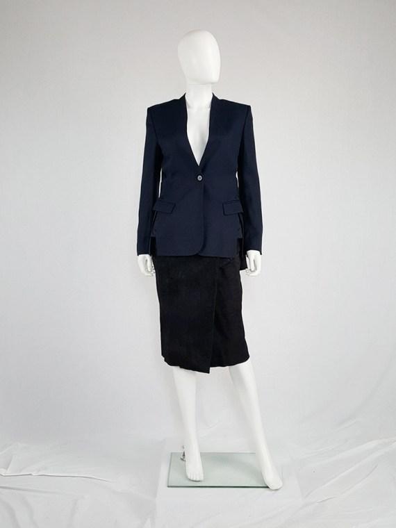 vintage Damir Doma blue minimalist blazer with open sides 141313(0)
