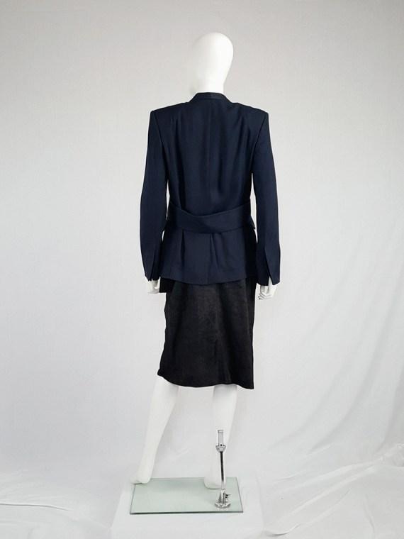 Damir Doma blue minimalist blazer with open sides