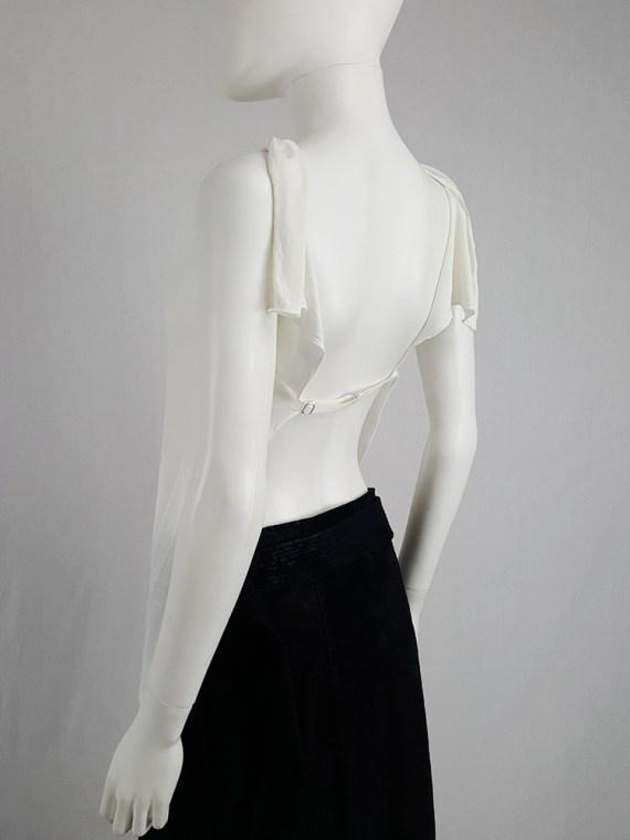 Maison Martin Margiela white backless top — spring 2004