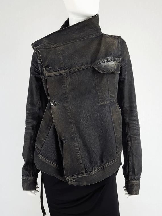 Rick Owens DRKSHDW dark blue denim exploder jacket