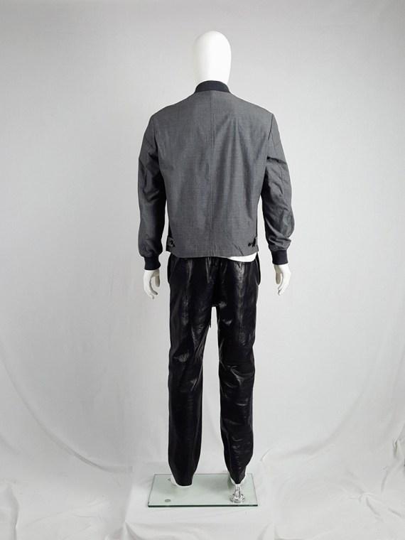 vintage Comme des Garcons Homme grey bomber jacket AD 1997 203111