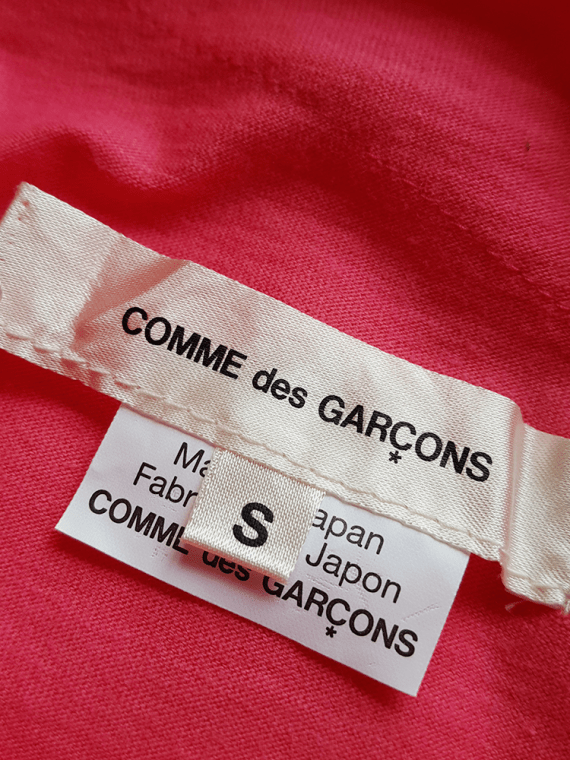 vintage Comme des Garcons pink two dimensional paperdoll top fall 2012 080802