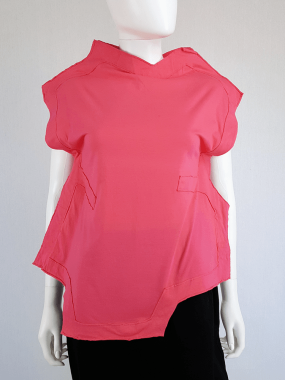 vintage Comme des Garcons pink two dimensional paperdoll top fall 2012 093730