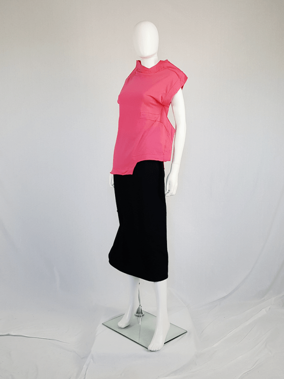 vintage Comme des Garcons pink two dimensional paperdoll top fall 2012 093821(0)