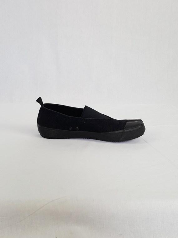 vintage Maison Martin Margiela MM6 black tabi sneaker slip ons early 2000s 115235