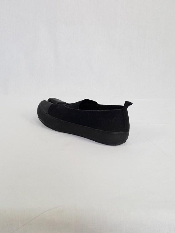 vintage Maison Martin Margiela MM6 black tabi sneaker slip ons early 2000s 115301