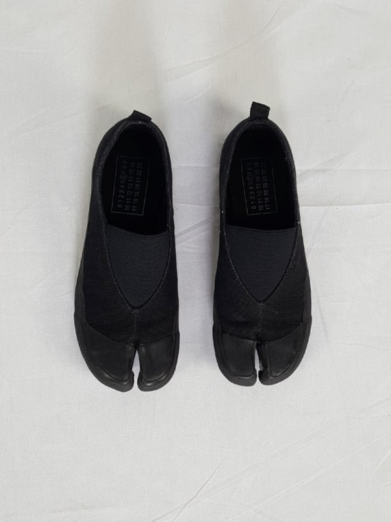 vintage Maison Martin Margiela MM6 black tabi sneaker slip ons early 2000s 115317