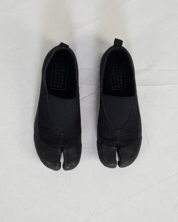 Maison Martin Margiela MM6 black tabi sneaker slip-ons — early 2000's