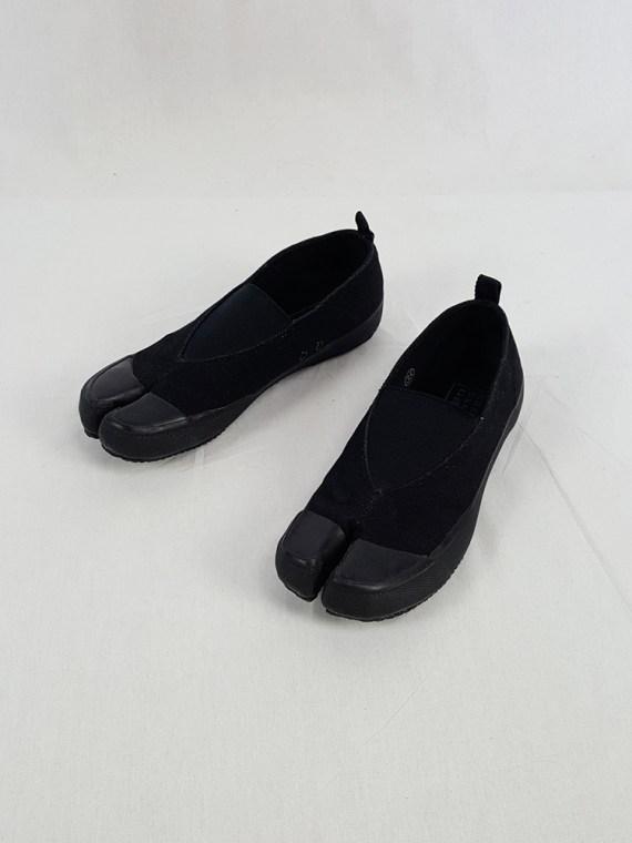 vintage Maison Martin Margiela MM6 black tabi sneaker slip ons early 2000s 115432(0)