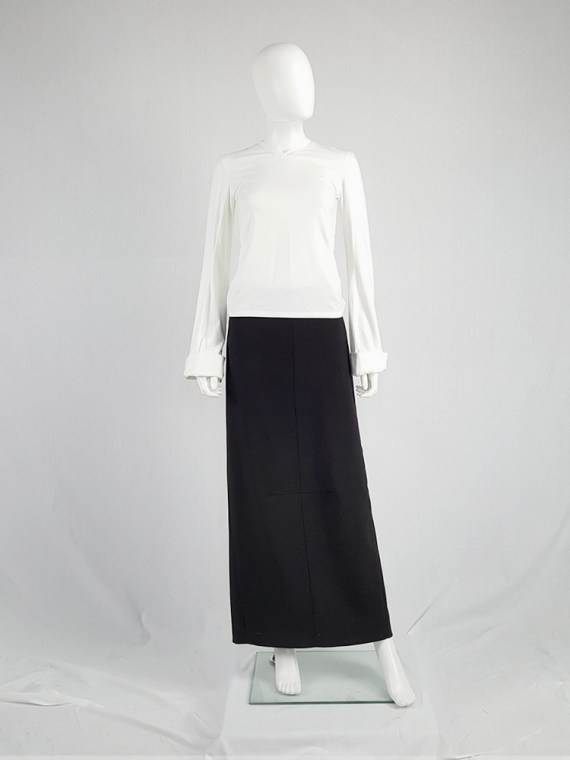 vintage Maison Martin Margiela black maxi skirt with back slit fall 1998 0941