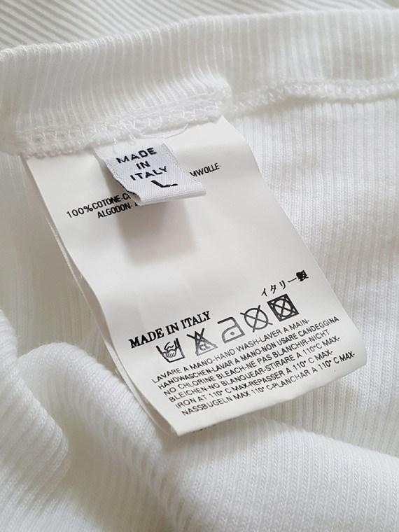 vintage Maison Martin Margiela white stapled tanktop spring 2007 111521