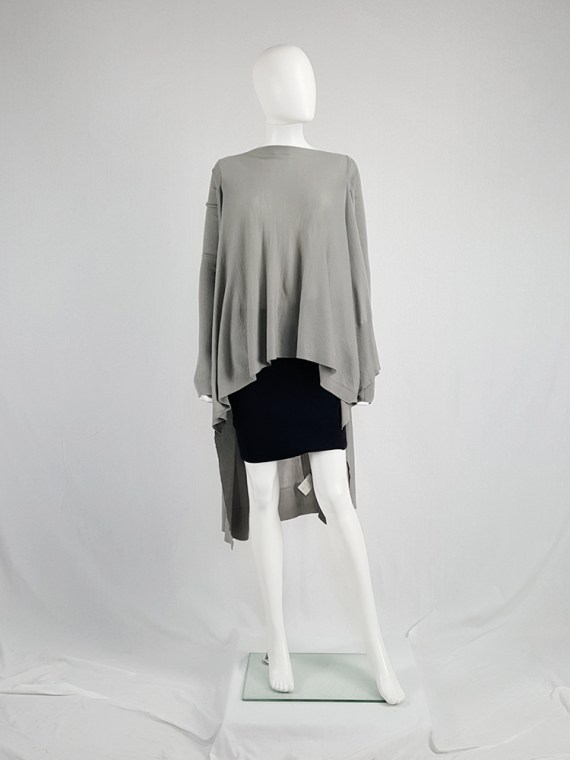 vintage Rick Owens MOODY grey long jumper with back drape fall 2014 113421