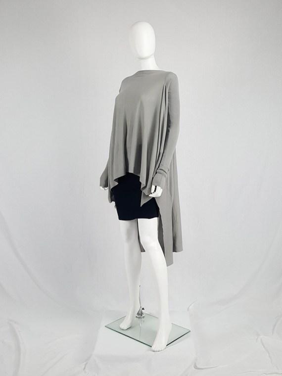 vintage Rick Owens MOODY grey long jumper with back drape fall 2014 113607(0)