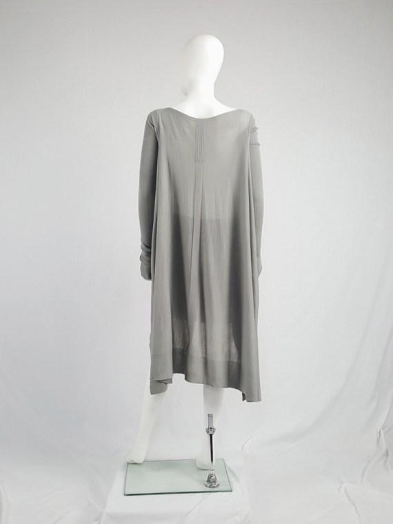vintage Rick Owens MOODY grey long jumper with back drape fall 2014 113734