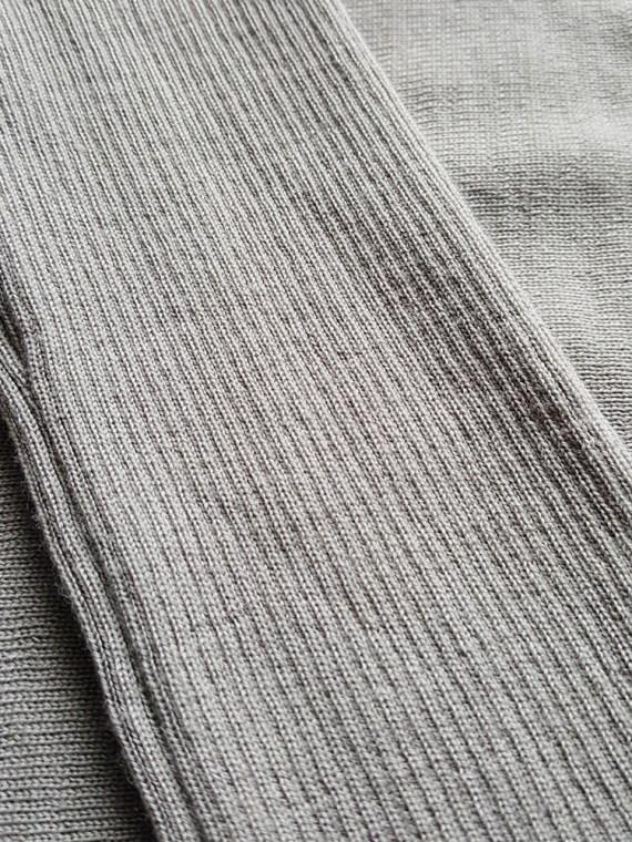 vintage Rick Owens MOODY grey long jumper with back drape fall 2014 114639