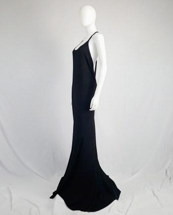 Ann Demeulemeester black backless maxi dress with back zipper strap — spring 2016