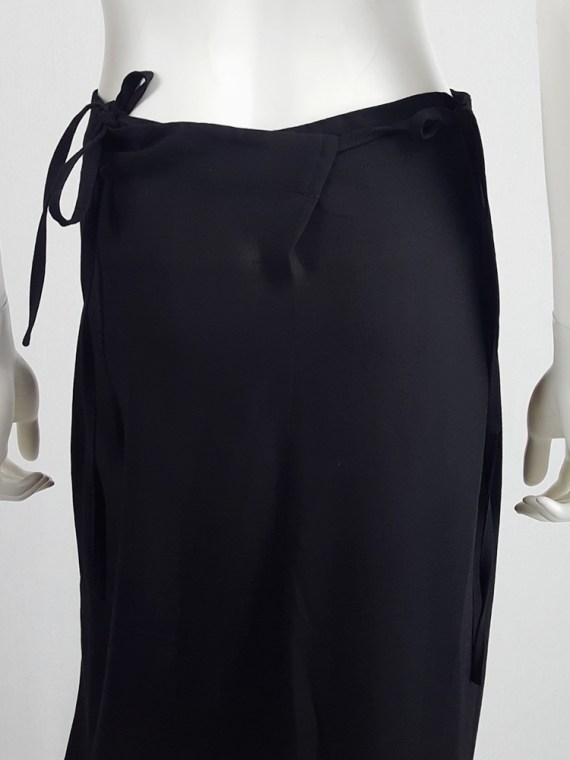 vintage Ann Demeulemeester black maxi skirt with back wrap 231225