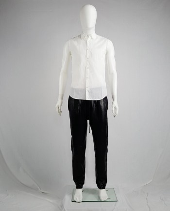 Ann Demeulemeester white sleeveless shirt with inside pocket