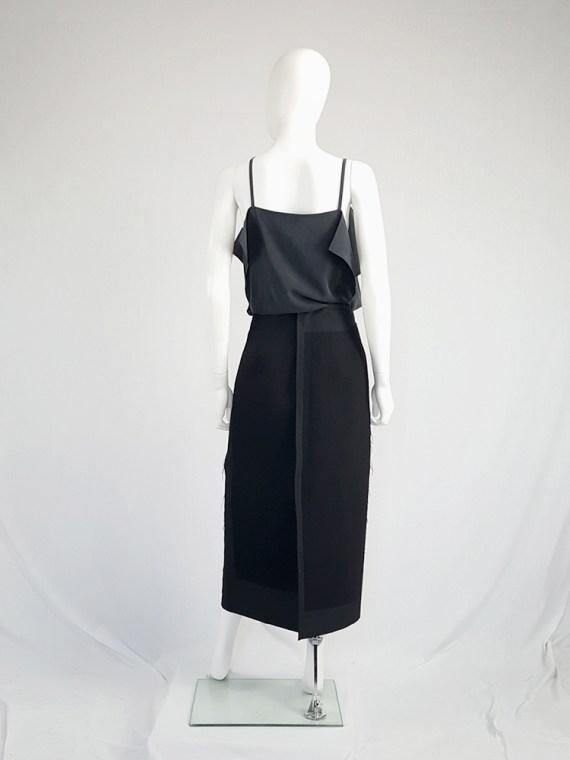 vintage Comme des Garcons black paneled maxi skirt fall 1997 122411