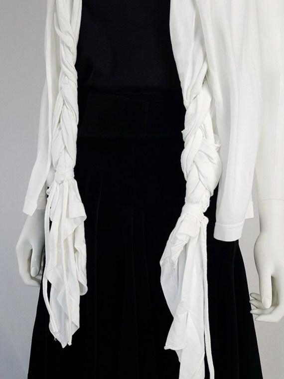 Comme des Garçons white vest with oversized braids — spring 2003